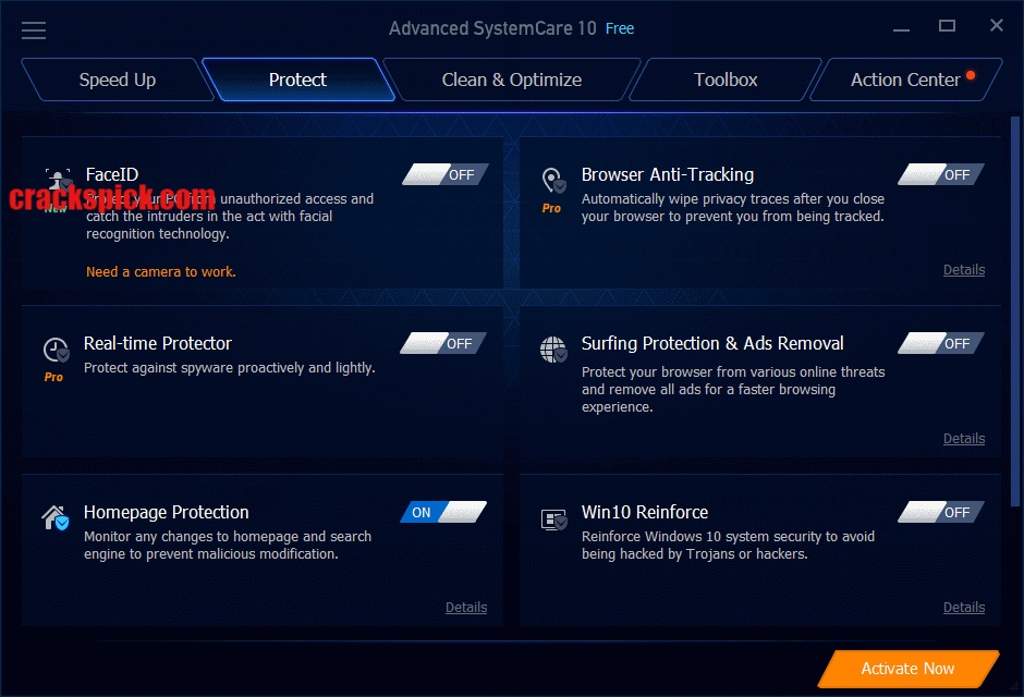 Advanced SystemCare Pro 10.4 Crack Serial Keys Download Latest2