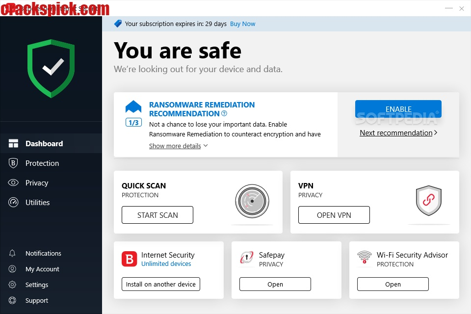 BitDefender Total Security Crack With License Key Free Download Full