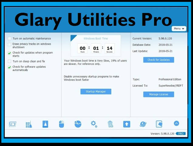 Glary Utilities Pro Free License Key Download